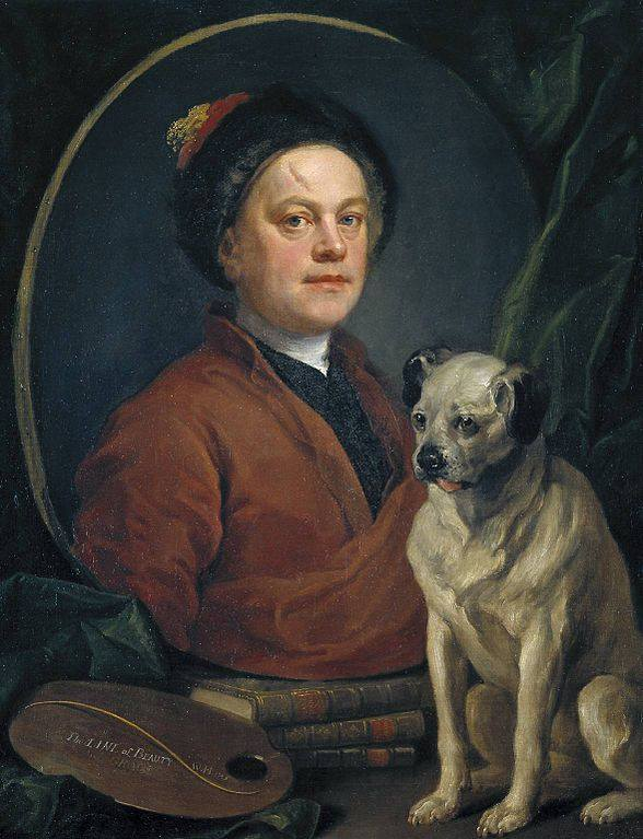 Pug, William Hogarth,art