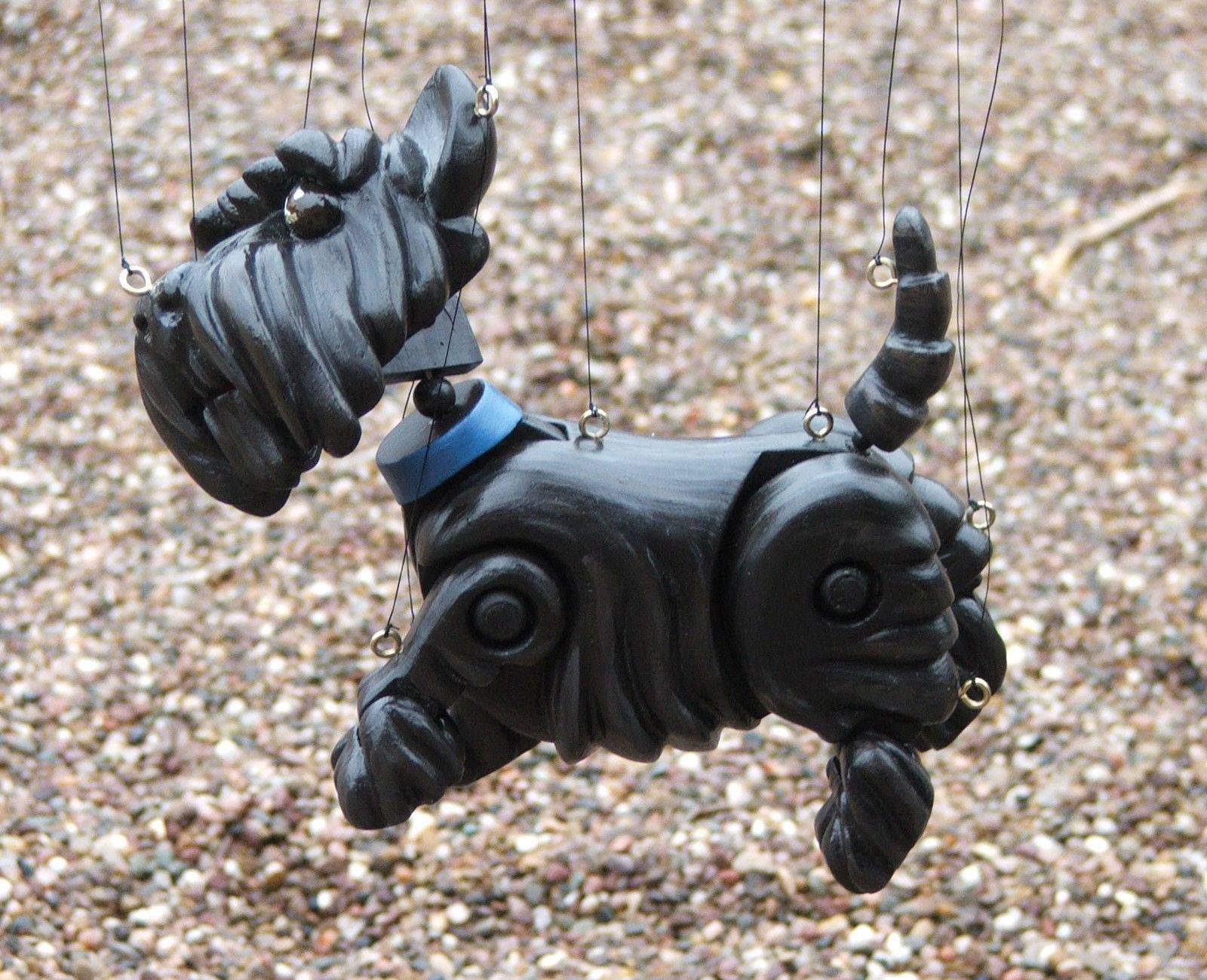 Scottish Terrier, Marionette, puppet, scottie, dog, purebred dog