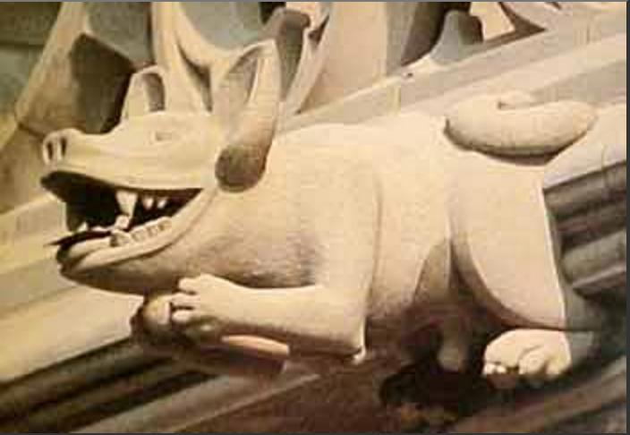 basenji, gargoyle, national cathedral, dogs, purebred dogs, hound