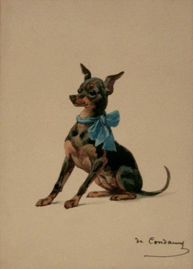 Manchester Terrier,dog,purebred dog,Groom's Pocket Piece