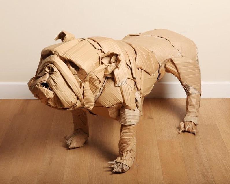 Bulldog,art,Dominic Gubb,dog,purebred dog