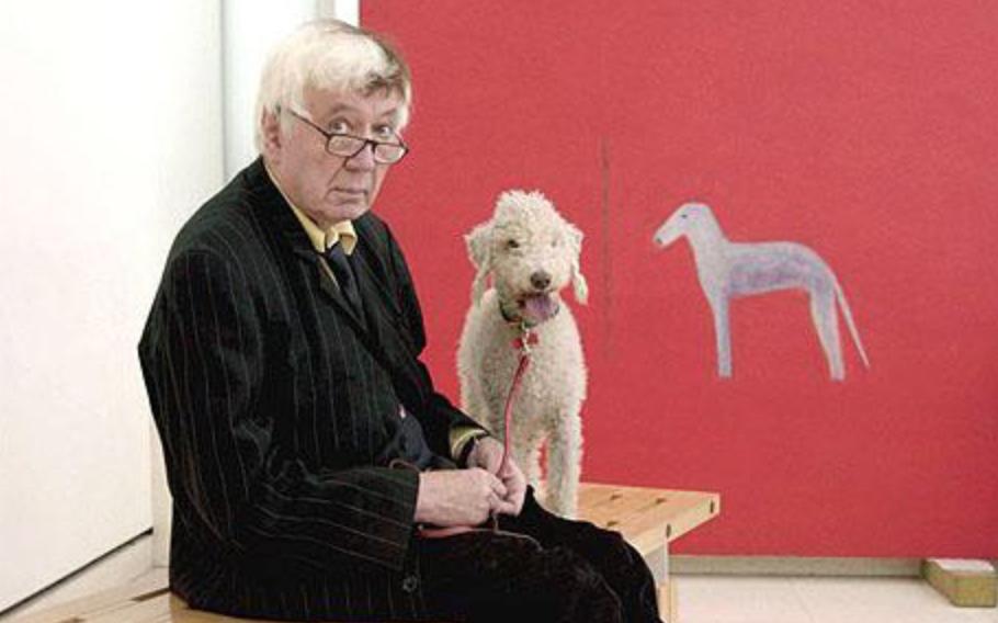 Bedlington Terrier,art,purebred dogs, dogs,Craigie Aitchison