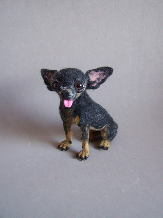 chihuahua,needle felted dog,great pyrenees,shih tzu,boxer,