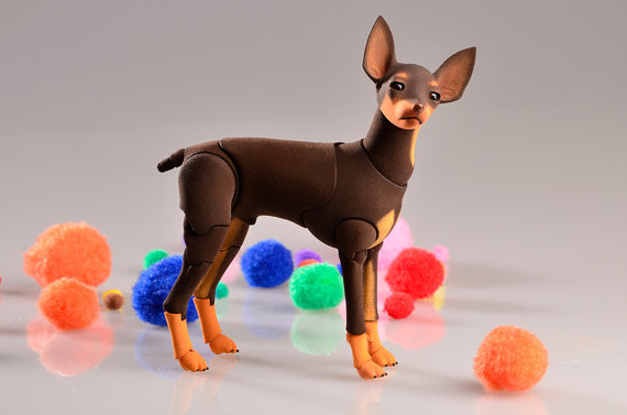Elleo Doll,ball-jointed doll,Russian Toy Terrier,Doberman Pinscher,Pugs, German Shepherd Dogs, Doberman Pinscher, Bull Terriers, White Swiss Shepherds, English Toy Terriers, Basset Hounds, Dachshunds,Akita,Dalmatian, Rottweiler,Corgi, French Bulldog,Collie, Golden Retriever,Chihuahua