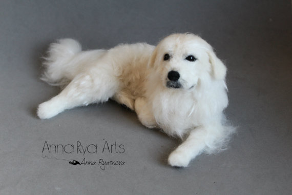 chihuahua,needle felted dog,great pyrenees,shih tzu,boxer,gift idea