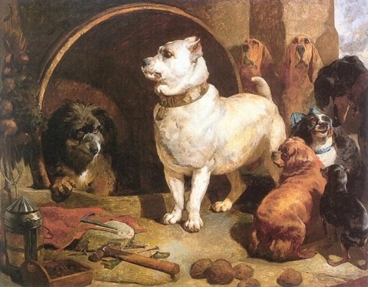 Alexander and Diogenes,Bulldog,Edwin Landseer,Bloodhound