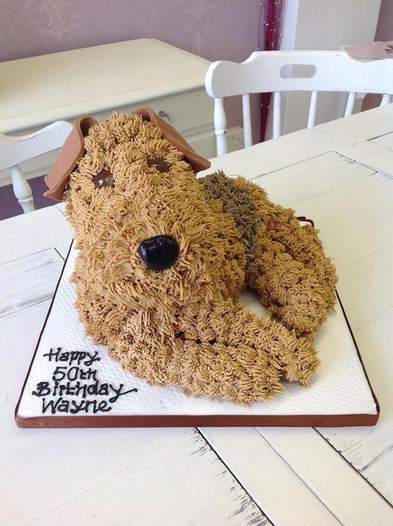 Welsh Terrier,cake,purebred of interest