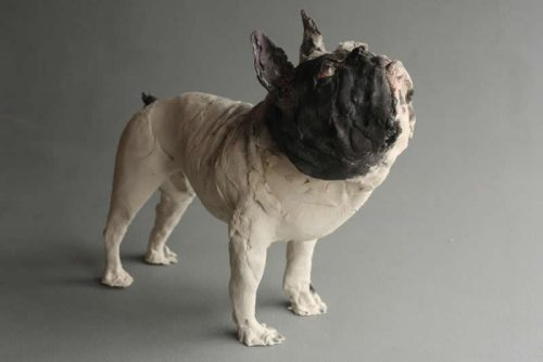 Ostinelli & Priest,french bulldog,hounds,ceramics,art,dogs,