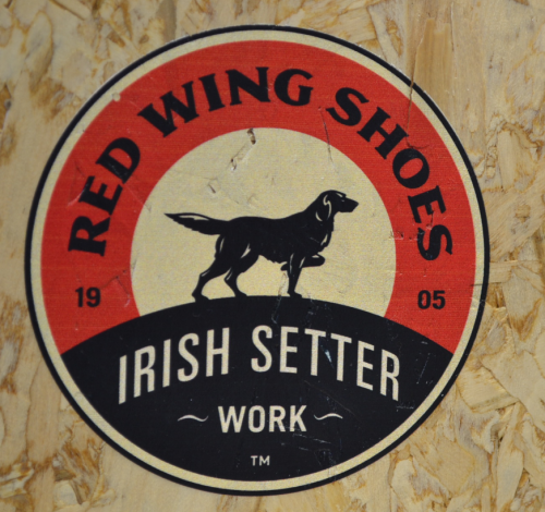 irish setter,red wing boot,logo,mascot