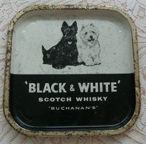 Black & White whisky,Scottish Terrier,West Highland White Terrier, James Buchanan