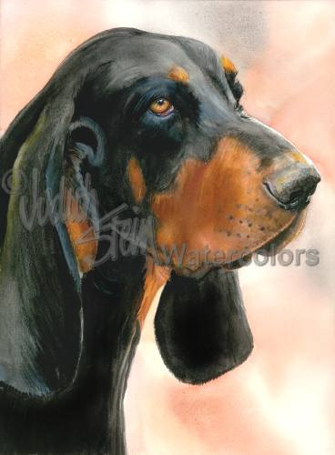 Black and Tan Coonhound,hound,bay,hunting,tongue,voice