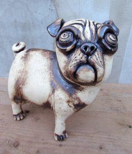 pug,art,ceramic,holiday
