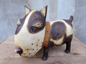 Bulldog,art,ceramic,holiday