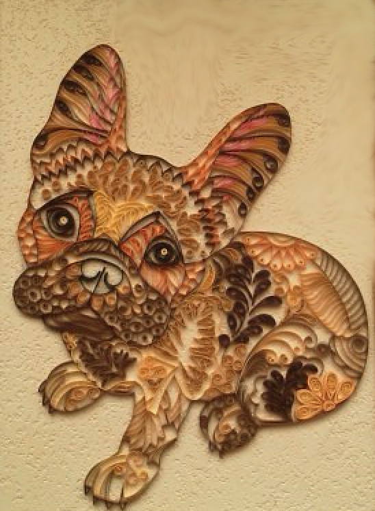 quilling, frenchie,french bulldog