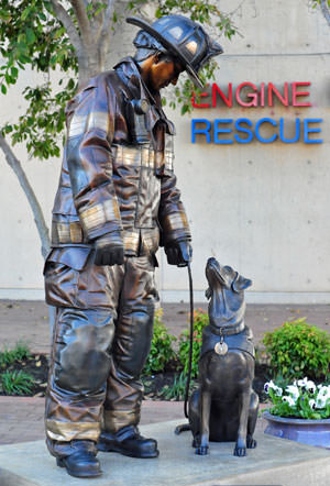 Fire Dog,monument,Labrador Retriever,Accelerant Detection Canine,arson dog