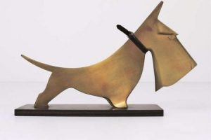 Scottish Terrier,sculpture,art,Carl Auböck