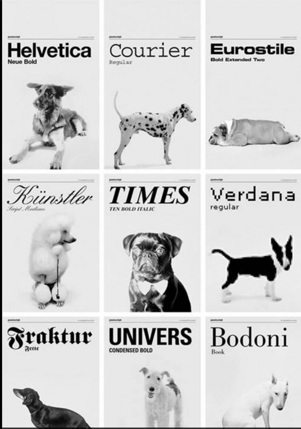 fonts,purebred dogs