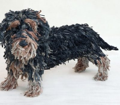 Dominic Gubb,wirehaired dachshund,bulldog,sculpture