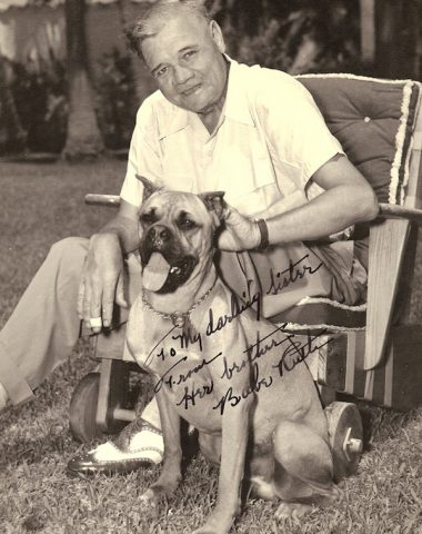 Bull Terrier,St. Bernard,Babe Ruth,Jacob Ruppert,Cloudland Dot,Jack Graney,
