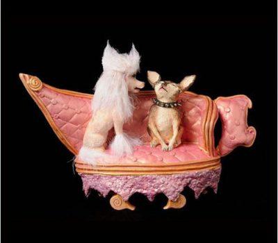 teapot,poodle,chihuahua,Meryl Ruth,ceramic,art,