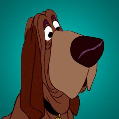 Bloodhound,Walt Disney,names, movies,Ben Sharpsteen,Toby,Stella,Towser,Bruno,Trusty,Napoleon,Lafayette,Copper,