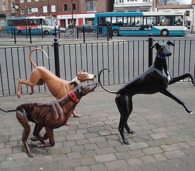 Greyhound,sculpture,art,public art,Irene Brown,Racing Ahead,Stockton