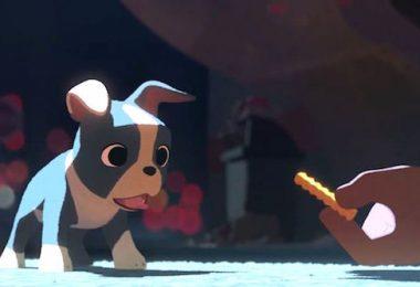 Boston Terrier,animation, Feast, Walt Disney, movie,film,cartoon