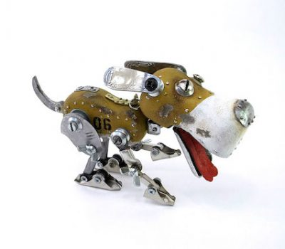 art, Beagle,Igor Verniy,sculpture,steampunk art,