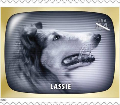 postage stamp,stamp,Lassie,Newfoundland