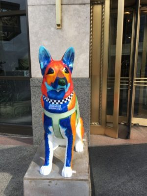 German Shepherd Dog,art,public art, police dog, Labrador Retriever, sculpture, Chicago Police,