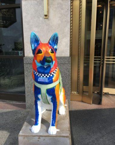 German Shepherd Dog,art,public art, police dog, Labrador Retriever, sculpture, Chicago Police,
