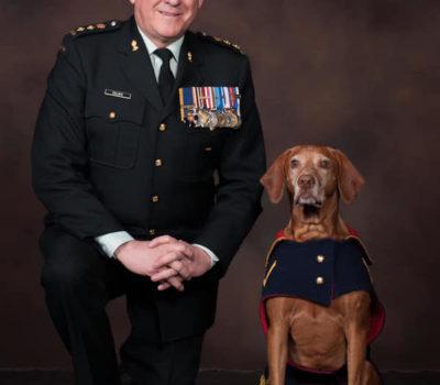 Vizsla,mascot,military dog,