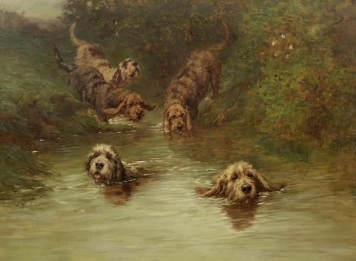 Otterhound,otter hunt, William Melbourne,Henry IV, Elizabeth I, King Edward II,King Edward III