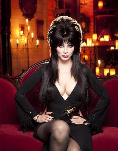 Elvira, Rottweiler,Cassandra Peterson,Mistress of the Dark