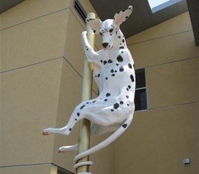 Dalmatian,art,public art,fire pole, sliding poles,toms,