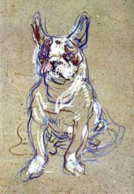 French Bulldog,Toulouse-Lautrec,Moulin Rouge,Romanovs,Ortipo,art,