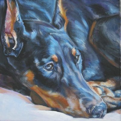 The Blue Doberman