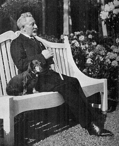 Kaiser Wilhelm II,Dachshund,Teckel,Wadl, Hexl and Senta
