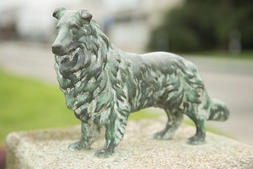 Collie, art, public art, statue, sculpture