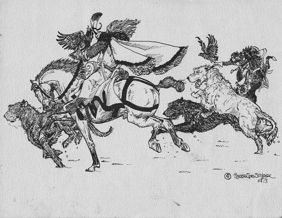 Irish Wolfhound, legend, myth, Ailbe