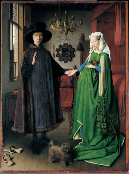 The Arnolfini Marriage,Lowchen,Schoshundle, Gutchen Hund,