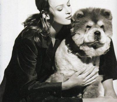 Uma Thurman, Chow Chow, Vogue Magazine,