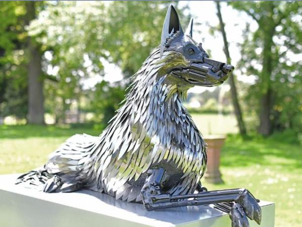 K9, art, sculpture, police dogs