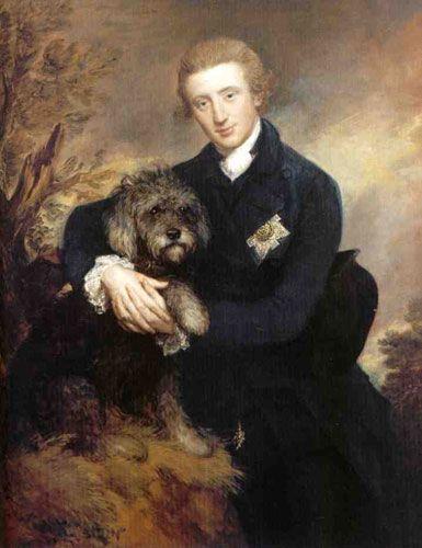Bearded Collie, Henry Douglas-Scott, 3rd Duke of Buccleuch,art,Thomas Gainsborough