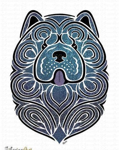 Chow Chow,color, blue, Lady Granville Gordon,Lady Faudel-Phillips,