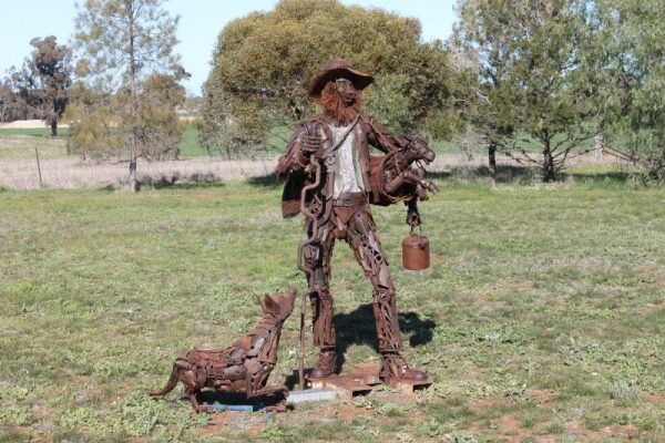 Australian Stumpy Tail Cattle Dog,Swagman,Australian Kelpie, Australian Cattle Dog, art