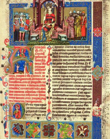 Vizsla, Illustrated Vienna Chronicle, Képes Krónika, King Louis I of Hungary, Carmelite Friars,Louis de Valois, Prince of Orleans
