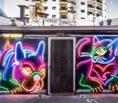Straker, neon graffiti, art, Drew Straker