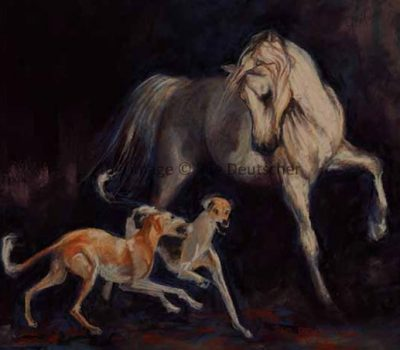 Saluki, horse, standard