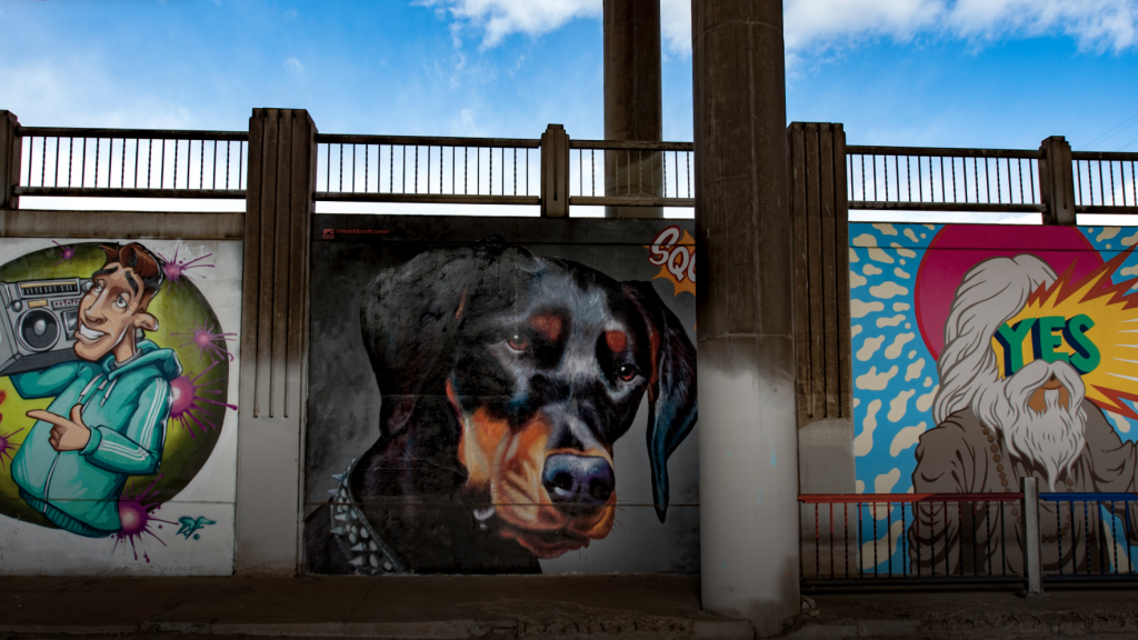 public art, Doberman Pinscher, Patrick Kane McGregor,Duct-Work 2